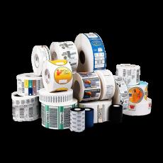 Etiquetas autoadhesivas, plasticubierto y termoencogible.